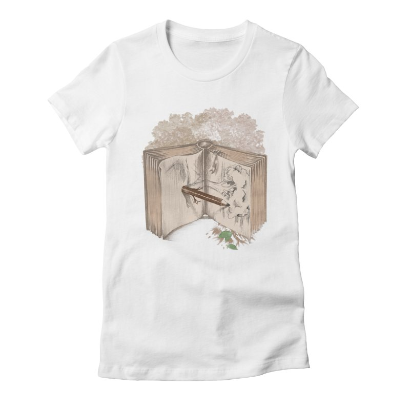 Real sketch Women's Fitted T-Shirt by jackduarte's Artist Shop
