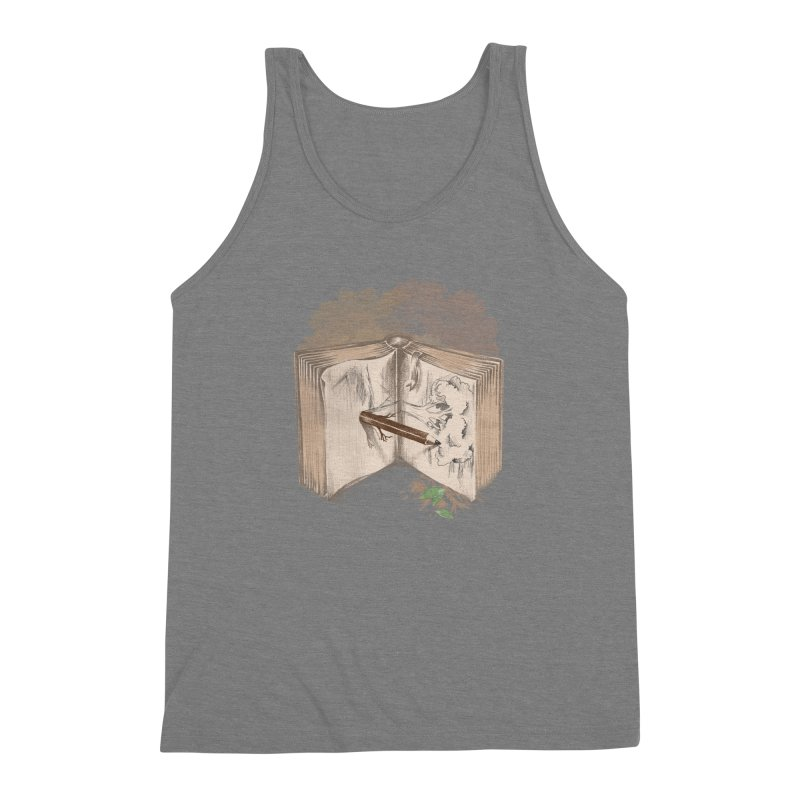Real sketch Men's Triblend Tank by jackduarte's Artist Shop