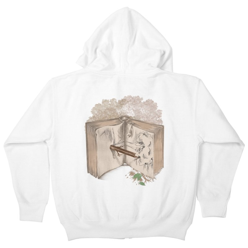 Real sketch Kids Zip-Up Hoody by jackduarte's Artist Shop