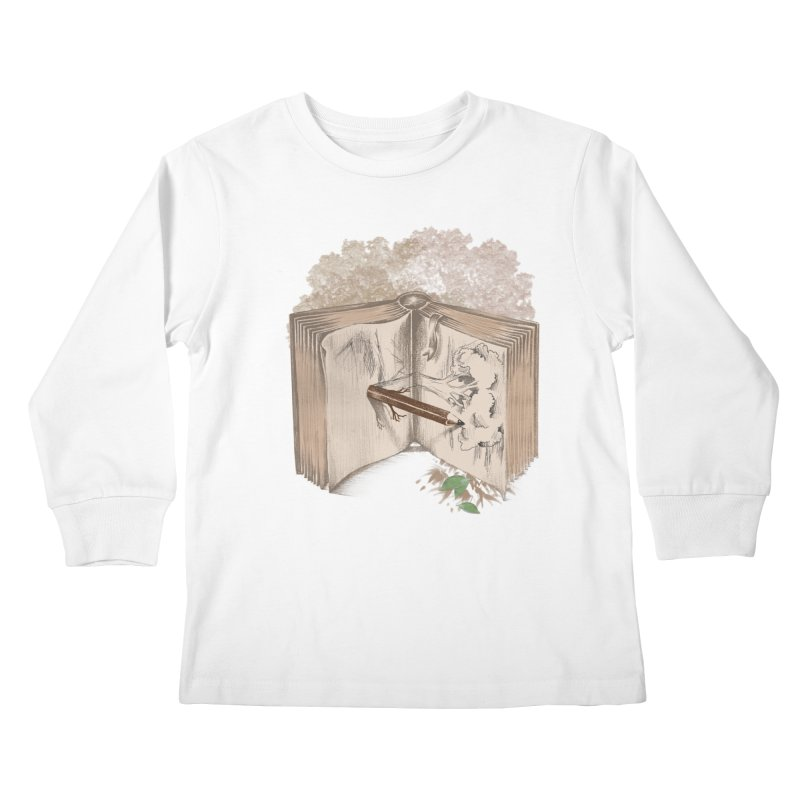 Real sketch Kids Longsleeve T-Shirt by jackduarte's Artist Shop