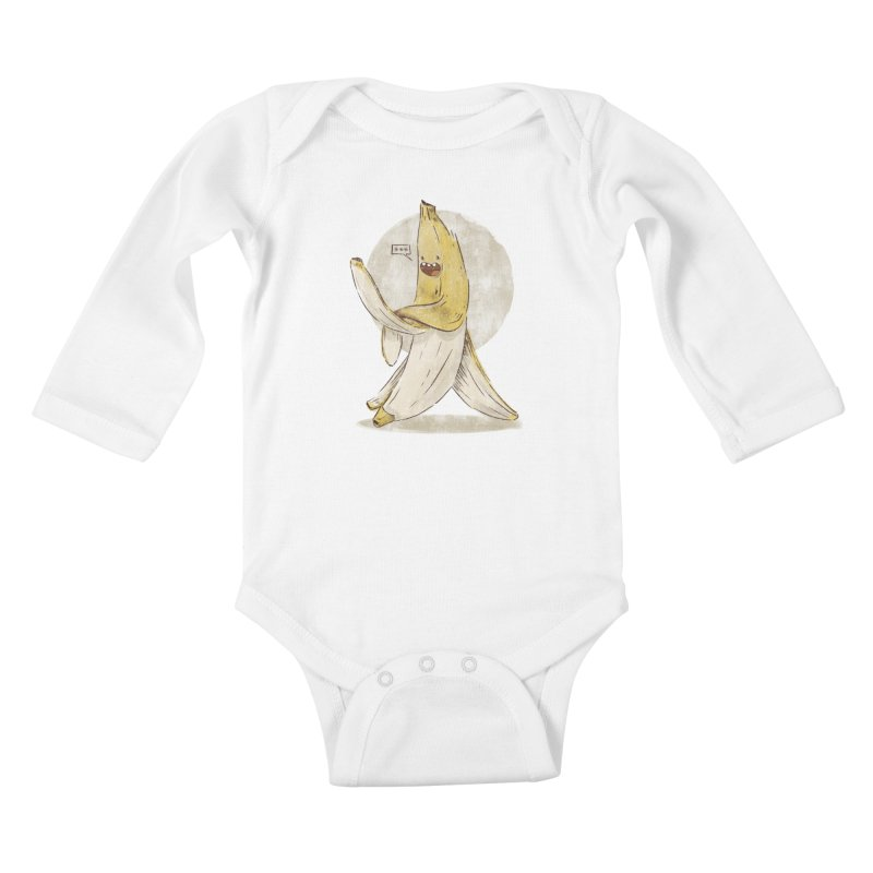 Banana for you Kids Baby Longsleeve Bodysuit by jackduarte's Artist Shop