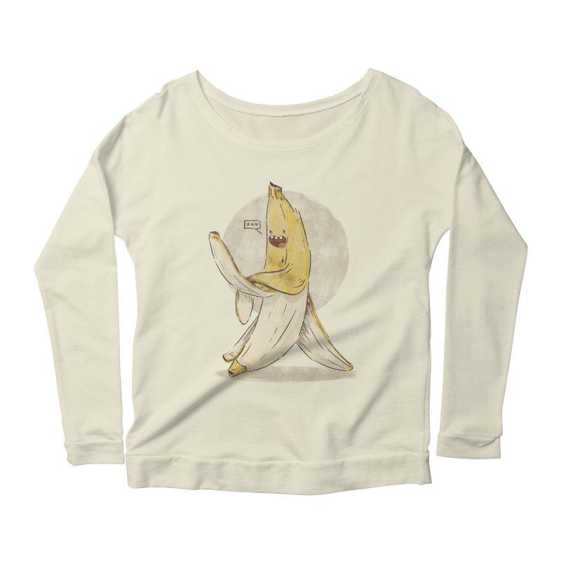 Banana for you Women's Longsleeve Scoopneck  by jackduarte's Artist Shop