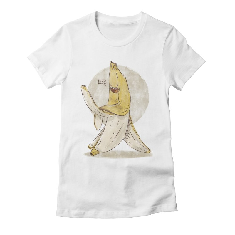 Banana for you Women's Fitted T-Shirt by jackduarte's Artist Shop