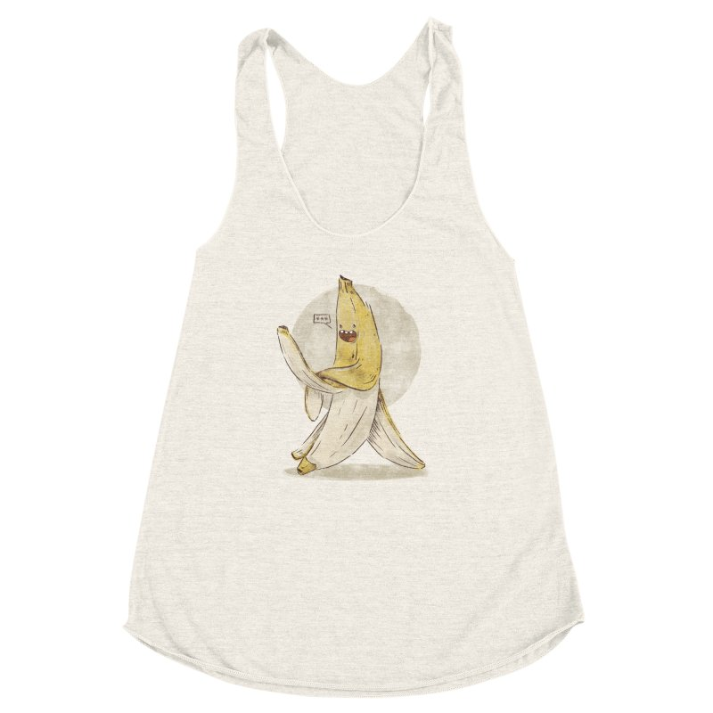 Banana for you Women's Racerback Triblend Tank by jackduarte's Artist Shop