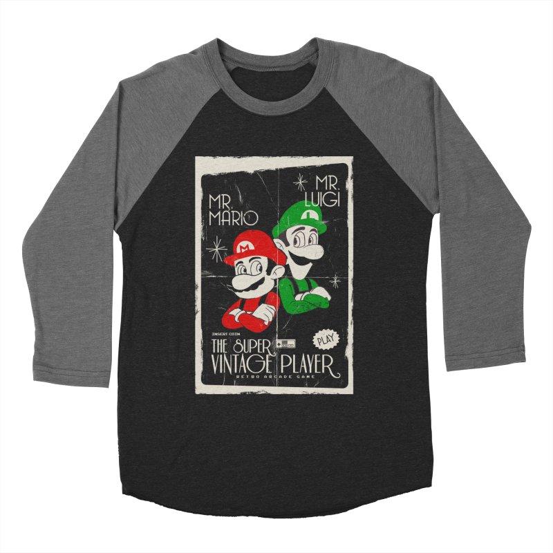 Mario vintage Women's Longsleeve T-Shirt by jackduarte's Artist Shop