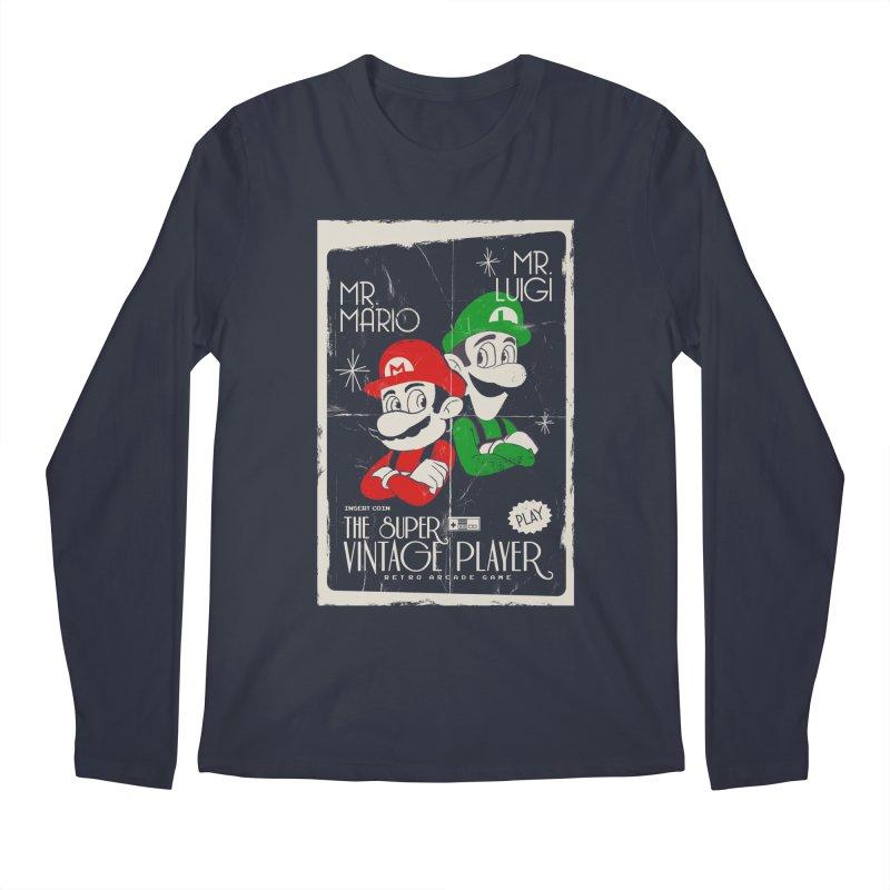 Mario vintage Men's Longsleeve T-Shirt by jackduarte's Artist Shop