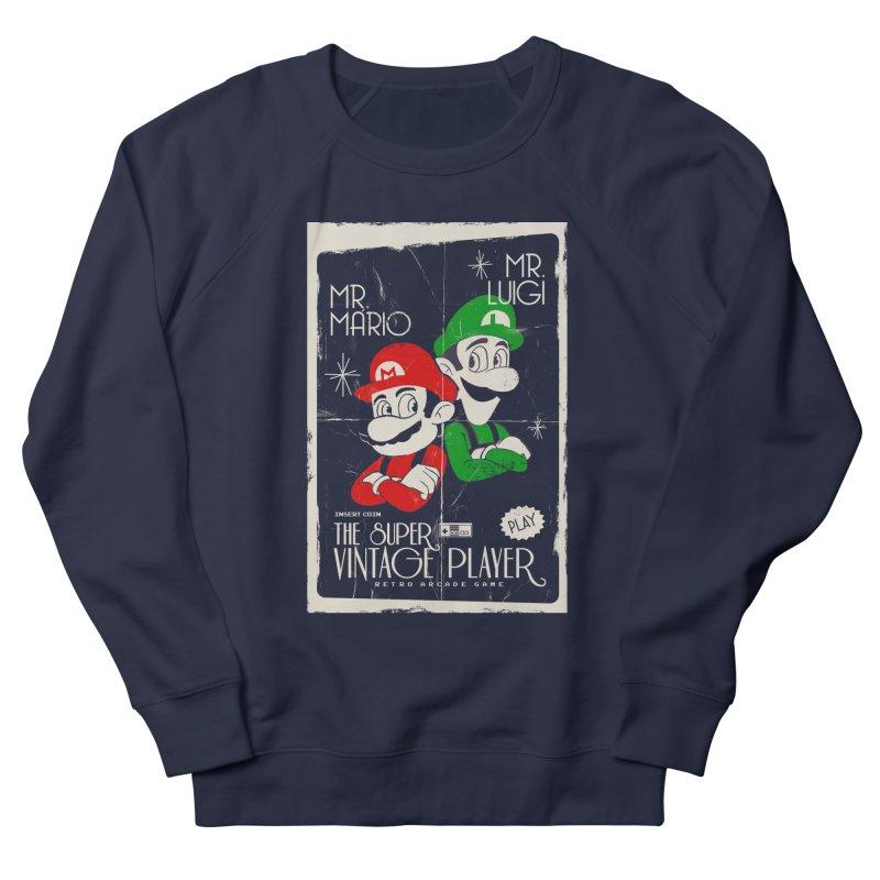 Mario vintage Women's French Terry Sweatshirt by jackduarte's Artist Shop