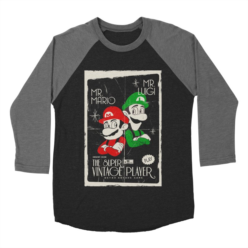 Mario vintage Women's Baseball Triblend T-Shirt by jackduarte's Artist Shop