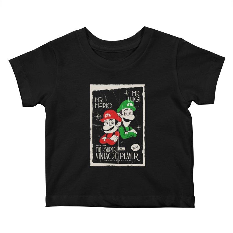 Mario vintage Kids Baby T-Shirt by jackduarte's Artist Shop
