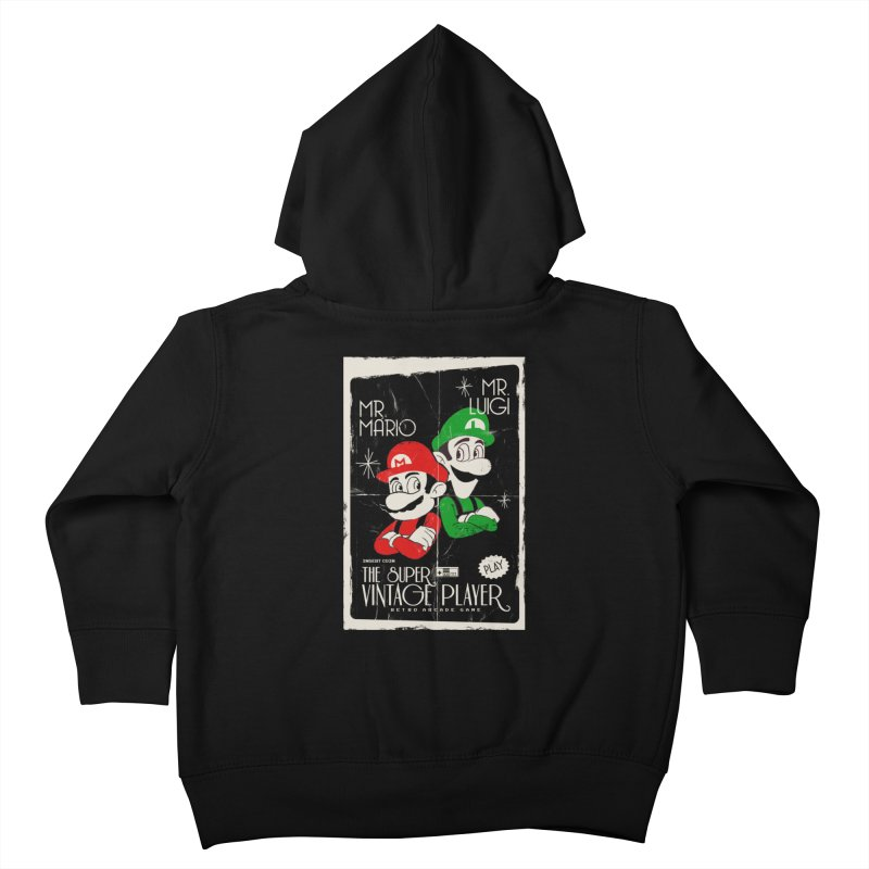Mario vintage Kids Toddler Zip-Up Hoody by jackduarte's Artist Shop