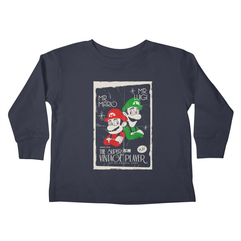 Mario vintage Kids Toddler Longsleeve T-Shirt by jackduarte's Artist Shop