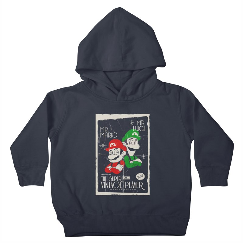 Mario vintage Kids Toddler Pullover Hoody by jackduarte's Artist Shop