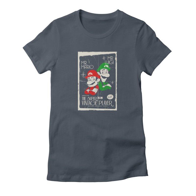 Mario vintage Women's T-Shirt by jackduarte's Artist Shop