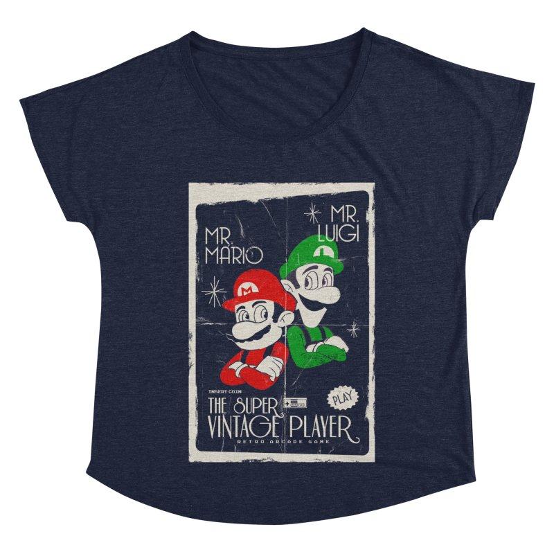 Mario vintage Women's Scoop Neck by jackduarte's Artist Shop