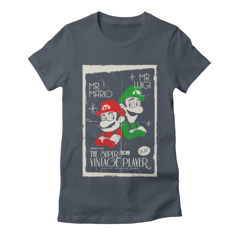 Mario vintage Women's Fitted T-Shirt by jackduarte's Artist Shop