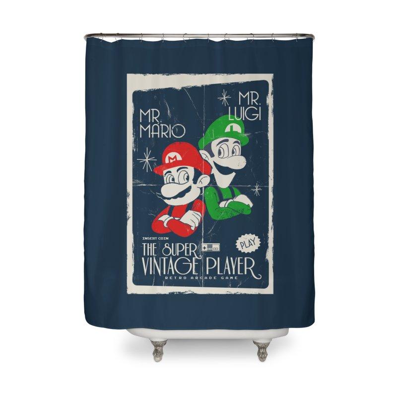 Mario vintage Home Shower Curtain by jackduarte's Artist Shop