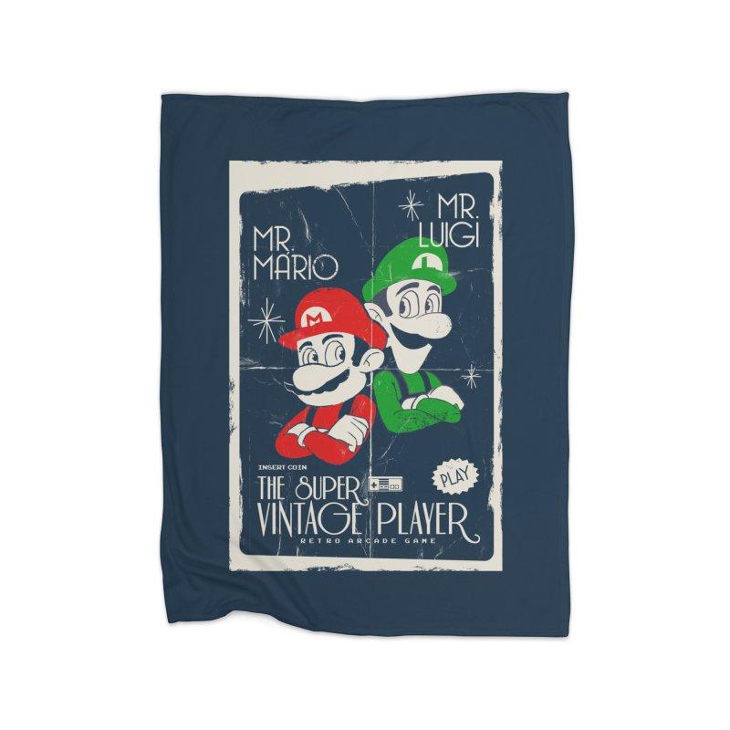 Mario vintage Home Blanket by jackduarte's Artist Shop