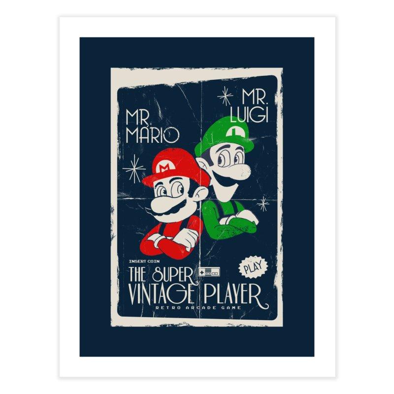 Mario vintage Home Fine Art Print by jackduarte's Artist Shop