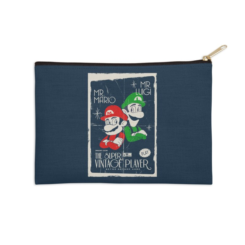 Mario vintage Accessories Zip Pouch by jackduarte's Artist Shop