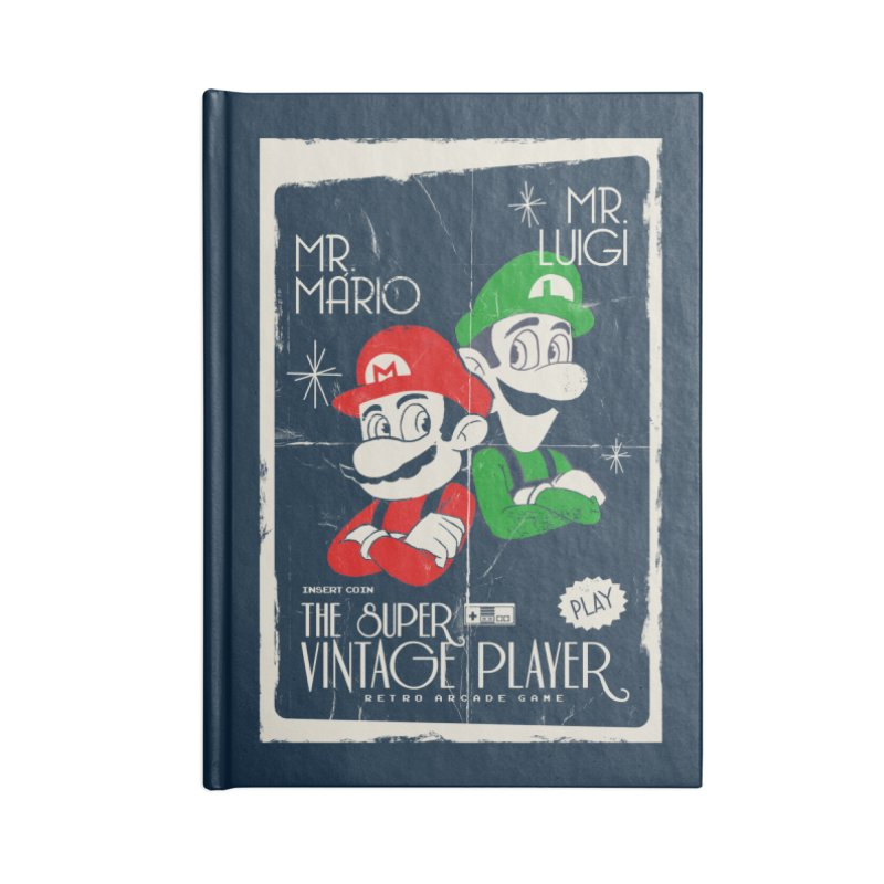 Mario vintage Accessories Notebook by jackduarte's Artist Shop