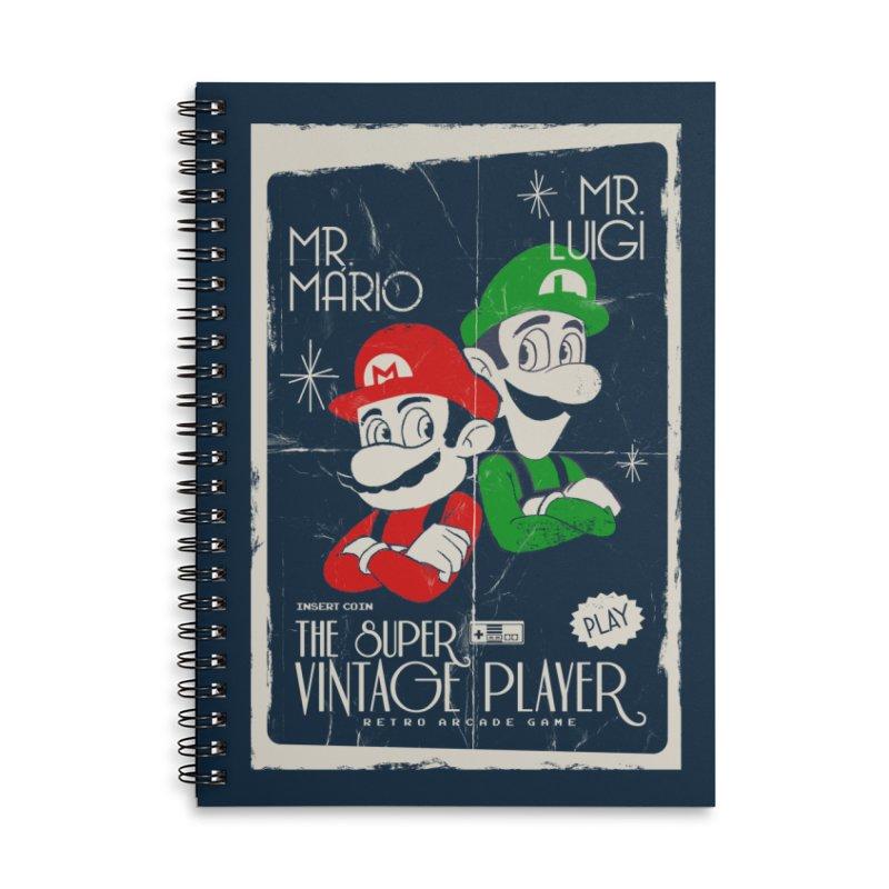 Mario vintage Accessories Notebook by jackduarte's Artist Shop