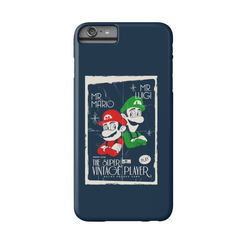 Mario vintage Accessories Phone Case by jackduarte's Artist Shop