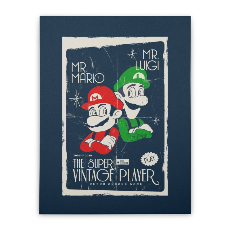 Mario vintage Home Stretched Canvas by jackduarte's Artist Shop