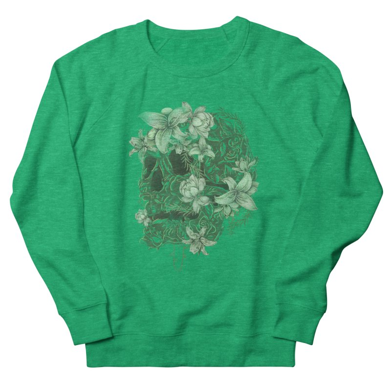 Skull  Women's French Terry Sweatshirt by jackduarte's Artist Shop