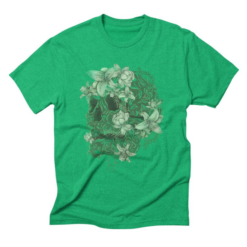 Skull  Men's Triblend T-Shirt by jackduarte's Artist Shop