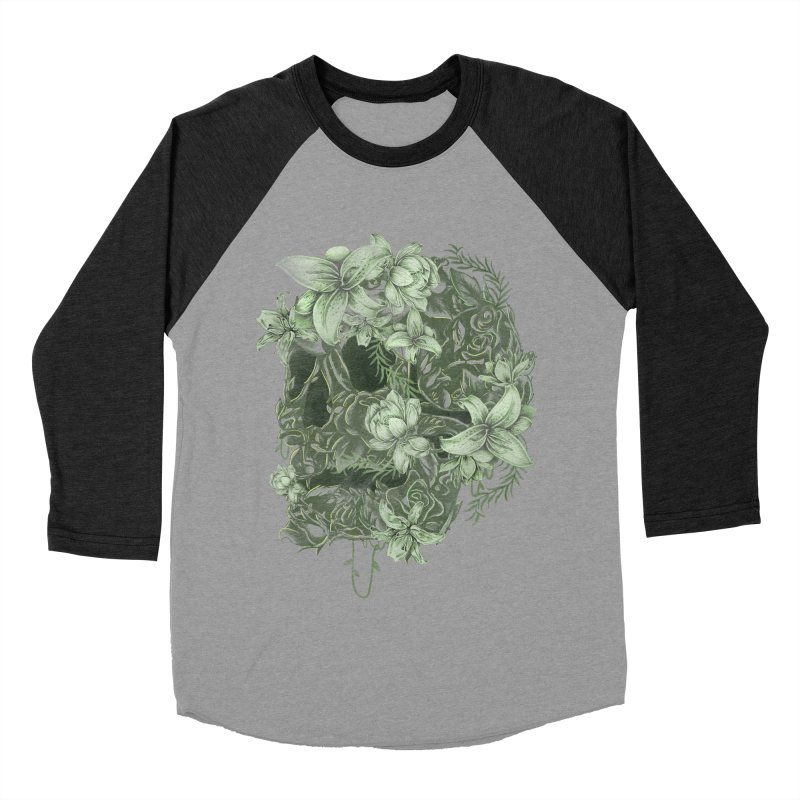 Skull  Men's Baseball Triblend T-Shirt by jackduarte's Artist Shop
