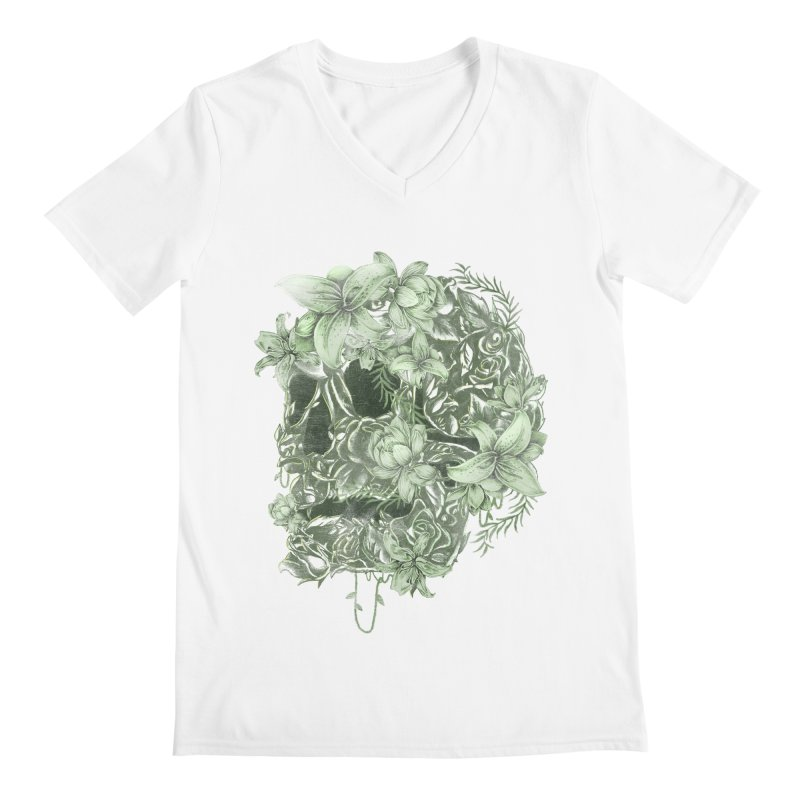Skull  Men's Regular V-Neck by jackduarte's Artist Shop