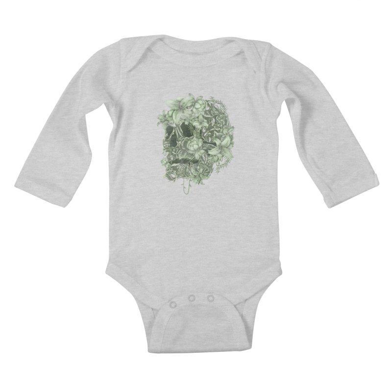 Skull  Kids Baby Longsleeve Bodysuit by jackduarte's Artist Shop