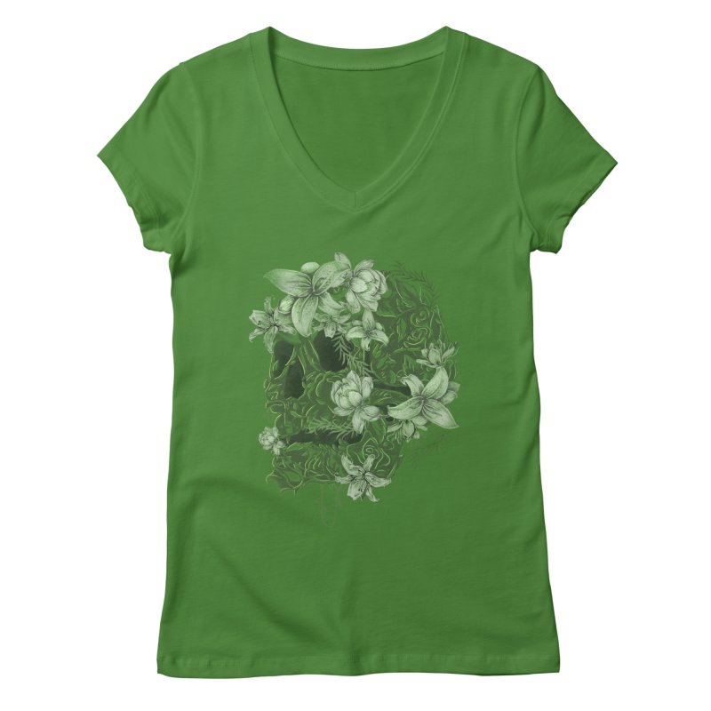Skull  Women's V-Neck by jackduarte's Artist Shop