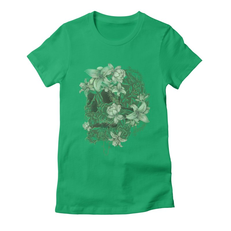 Skull  Women's Fitted T-Shirt by jackduarte's Artist Shop