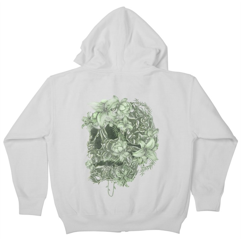 Skull  Kids Zip-Up Hoody by jackduarte's Artist Shop