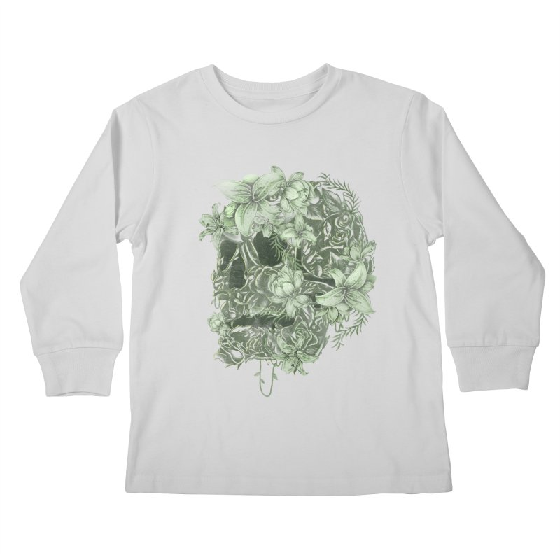 Skull  Kids Longsleeve T-Shirt by jackduarte's Artist Shop