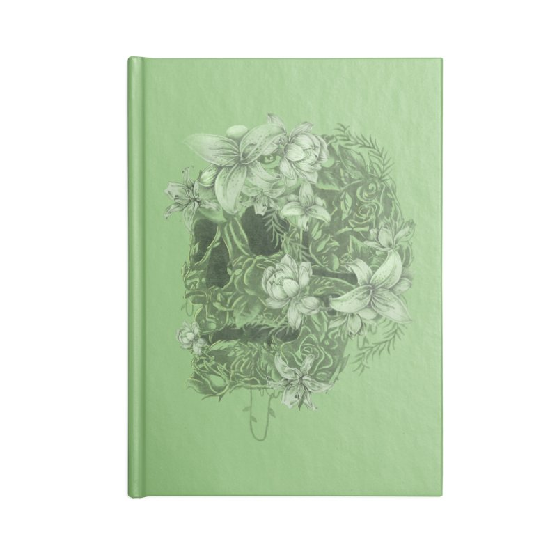 Skull  Accessories Blank Journal Notebook by jackduarte's Artist Shop