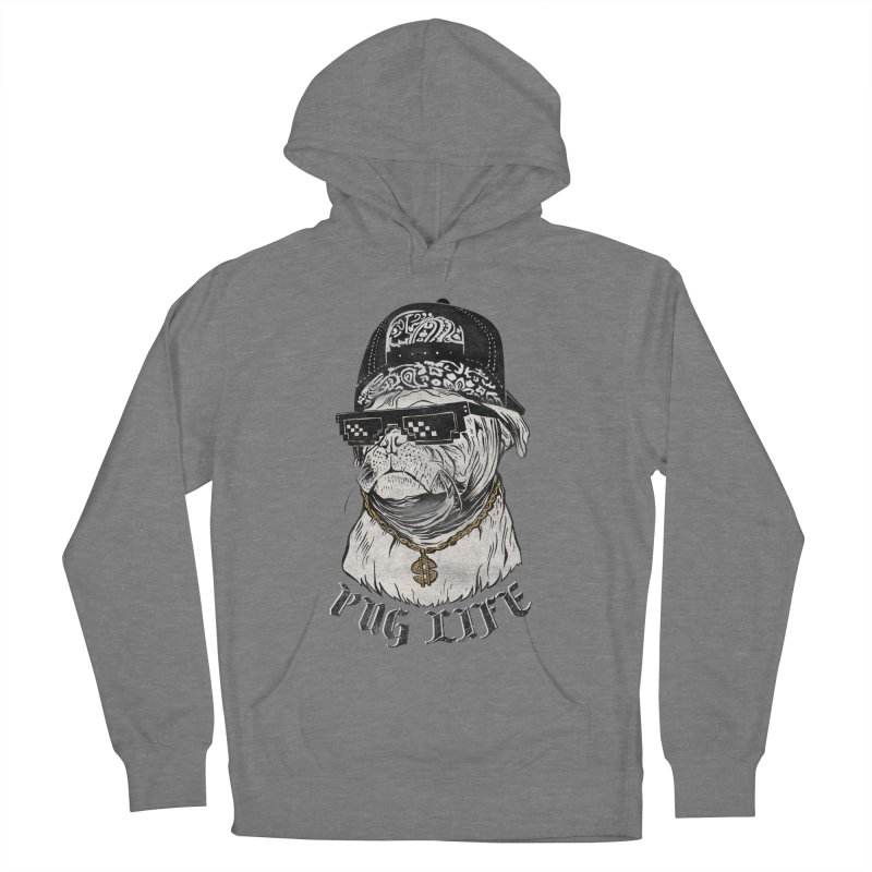 Pug life Men's French Terry Pullover Hoody by jackduarte's Artist Shop