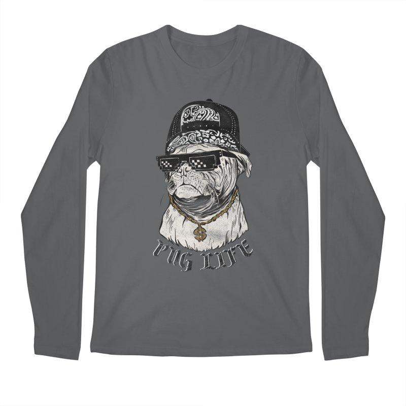 Pug life Men's Regular Longsleeve T-Shirt by jackduarte's Artist Shop