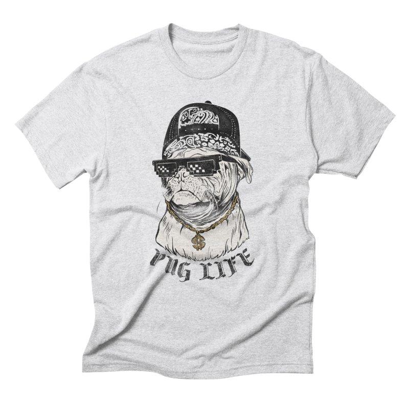 Pug life Men's Triblend T-Shirt by jackduarte's Artist Shop