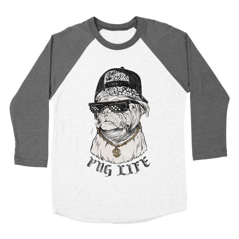 Pug life Women's Baseball Triblend T-Shirt by jackduarte's Artist Shop