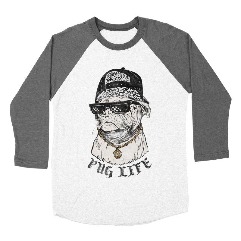 Pug life Men's Baseball Triblend T-Shirt by jackduarte's Artist Shop