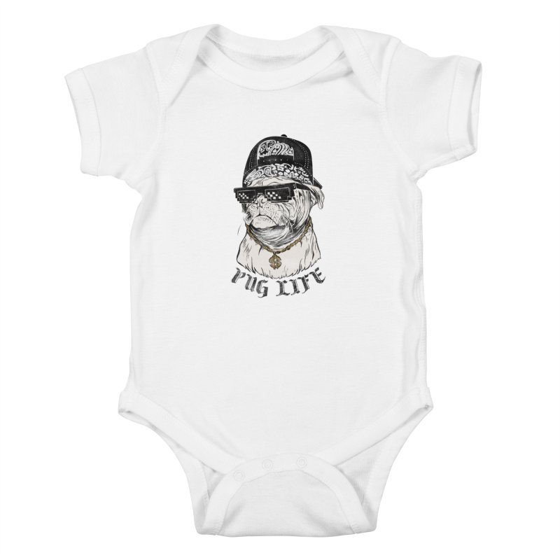 Pug life Kids Baby Bodysuit by jackduarte's Artist Shop