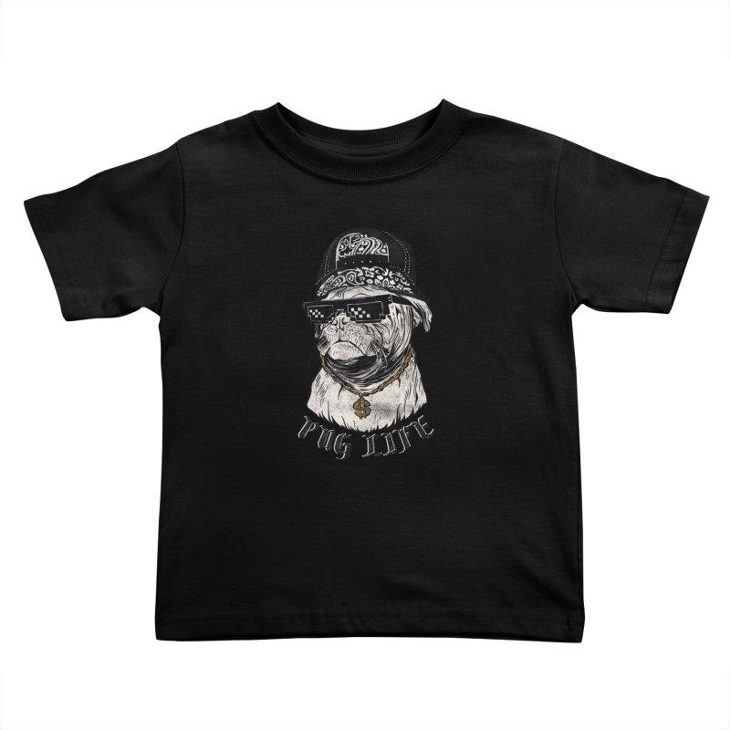 Pug life Kids Toddler T-Shirt by jackduarte's Artist Shop