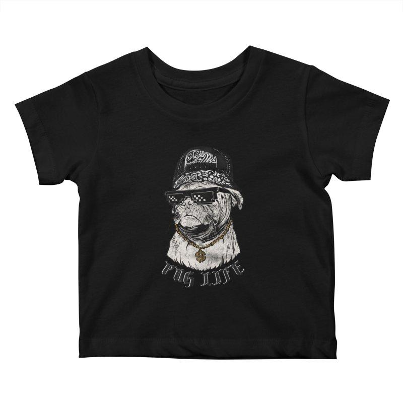 Pug life Kids Baby T-Shirt by jackduarte's Artist Shop