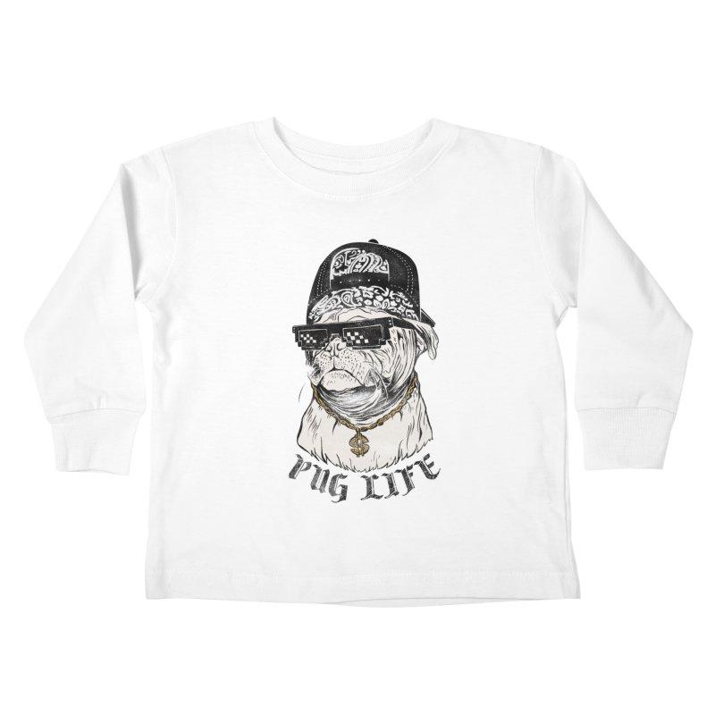 Pug life Kids Toddler Longsleeve T-Shirt by jackduarte's Artist Shop