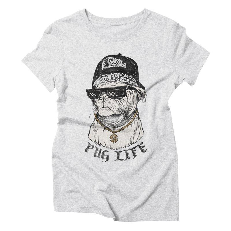 Pug life Women's Triblend T-Shirt by jackduarte's Artist Shop