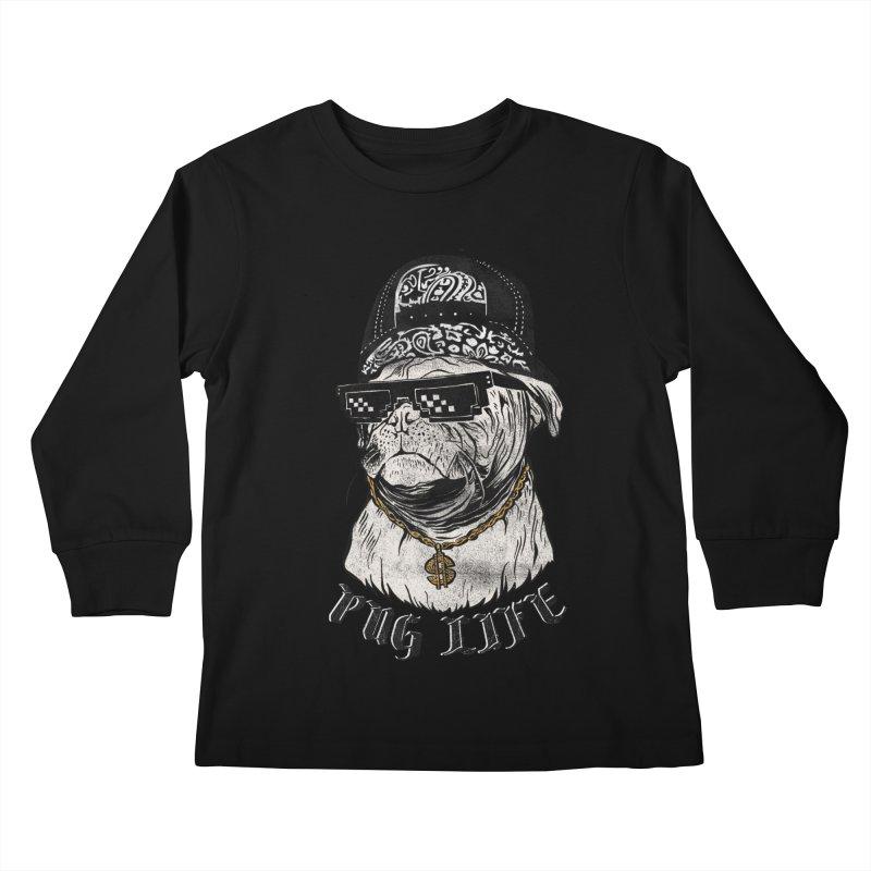 Pug life Kids Longsleeve T-Shirt by jackduarte's Artist Shop