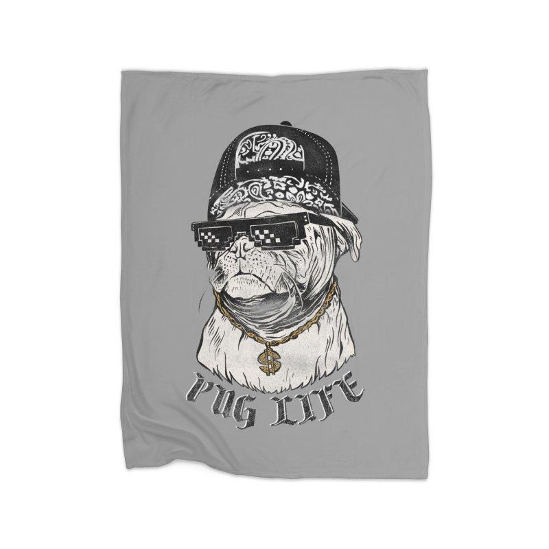 Pug life Home Blanket by jackduarte's Artist Shop