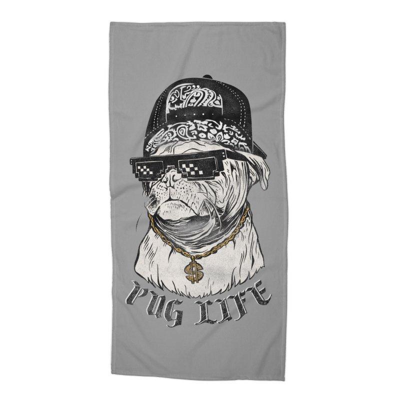Pug life Accessories Beach Towel by jackduarte's Artist Shop